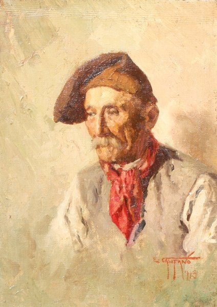 21: Eugene CALIFANO (1893-1974) Vieux pêcheur napolitai