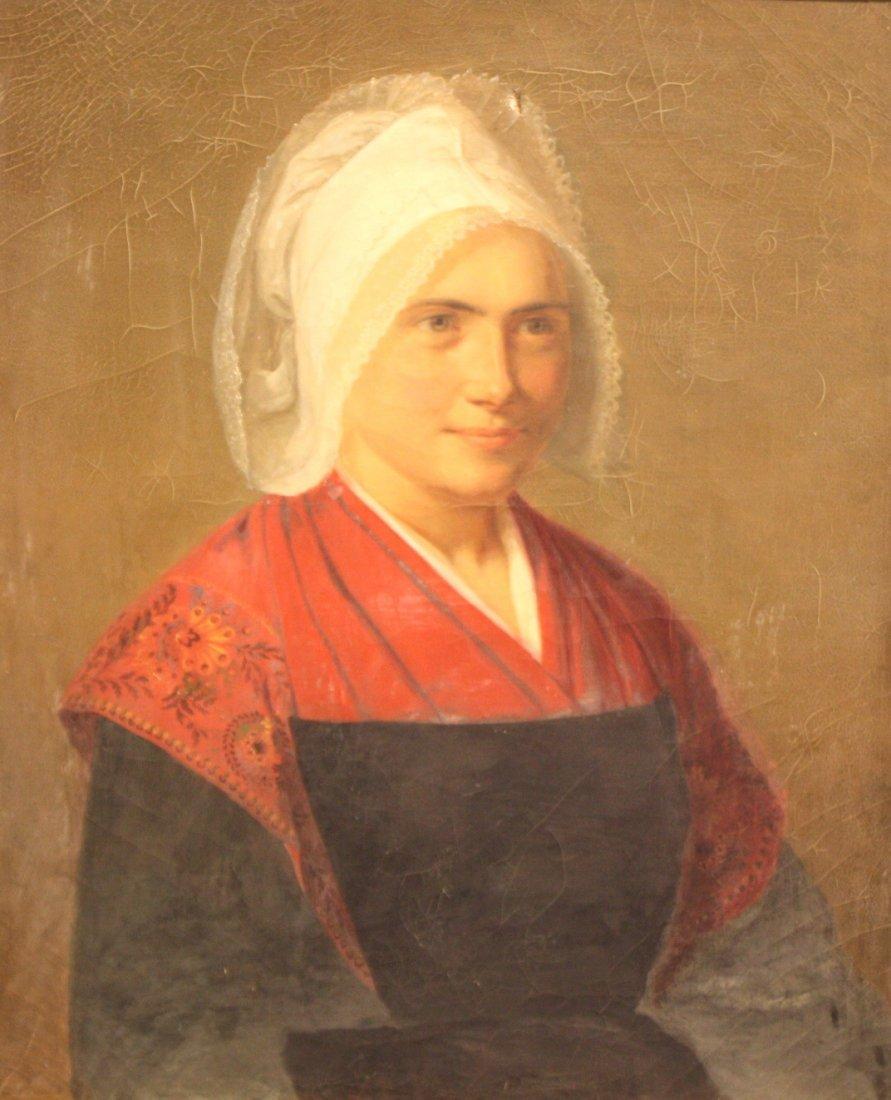 27: Ecole française du XIXème siècle Buste de jeune fem
