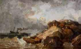 29: Eugène ISABEY (1804-1886)  Tempête - 1851 Huile sur