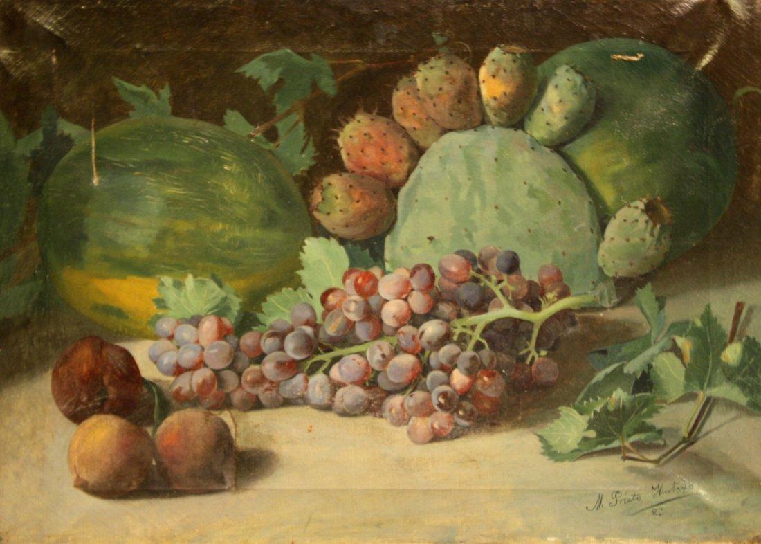31: Manuel PRIETO HURTADO (XIX-XX)  Nature morte aux fr