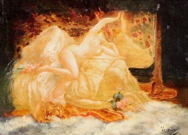 32: Jules Victor VERDIER (1862-1926) Nu allongé au miro