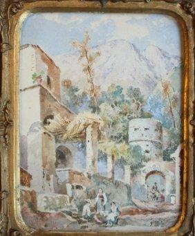 33: Achille VIANELLI (1803-1894) Fort d'Ischia près du