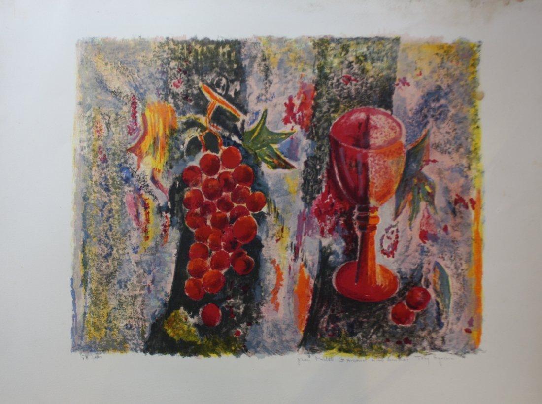 10: Tony AGOSTINI (1916-1990) Nature morte à la grappe