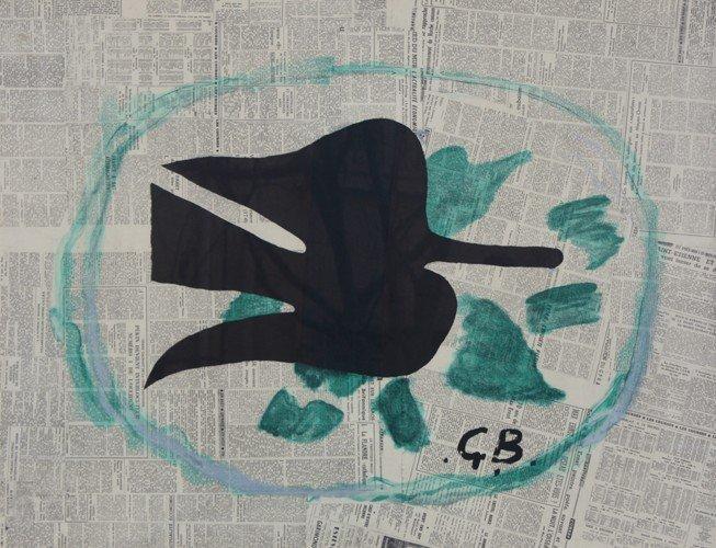 11: Georges BRAQUE (1882-1963)  Oiseau Noir Lithographi