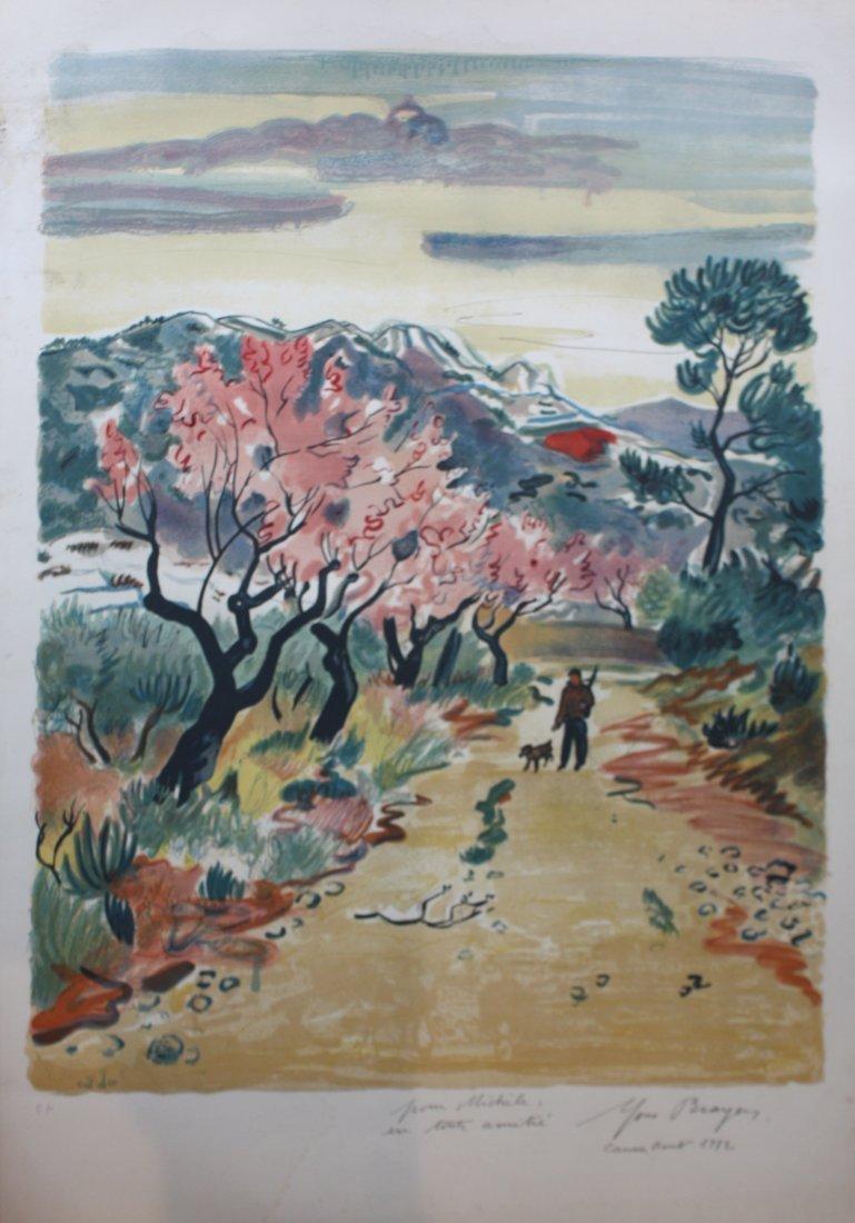 13: Yves BRAYER (1907-1990)  Chasseur sur un chemin en