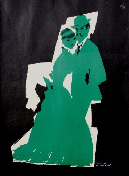 21: Paul COLIN (1892-1985) Couple Lithographie en coule