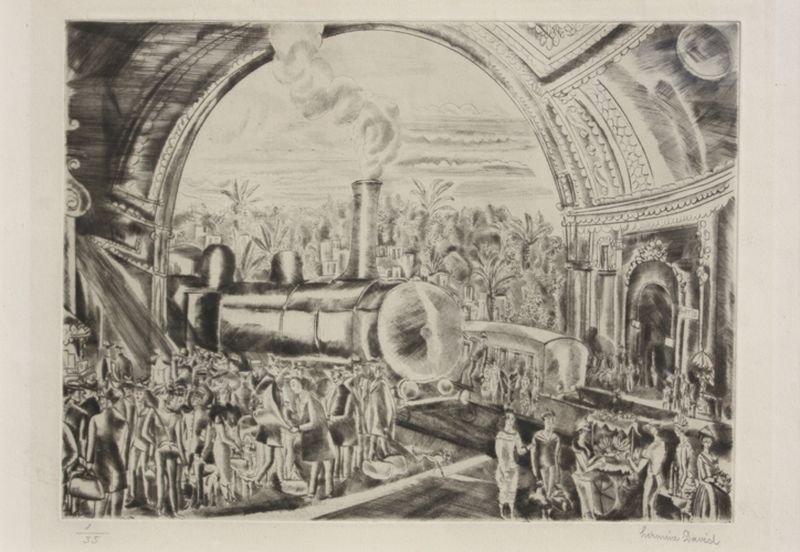 23: Hermine DAVID (1886-1970) La gare de Nice Pointe sè