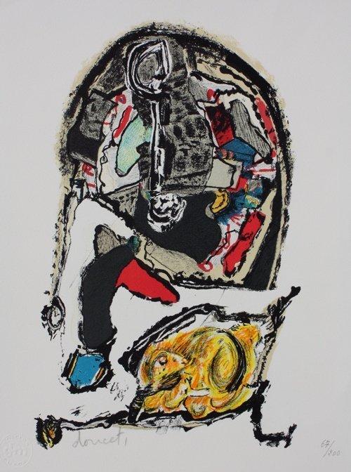 28: Jacques DOUCET (1924-1994) Composition  Lithographi