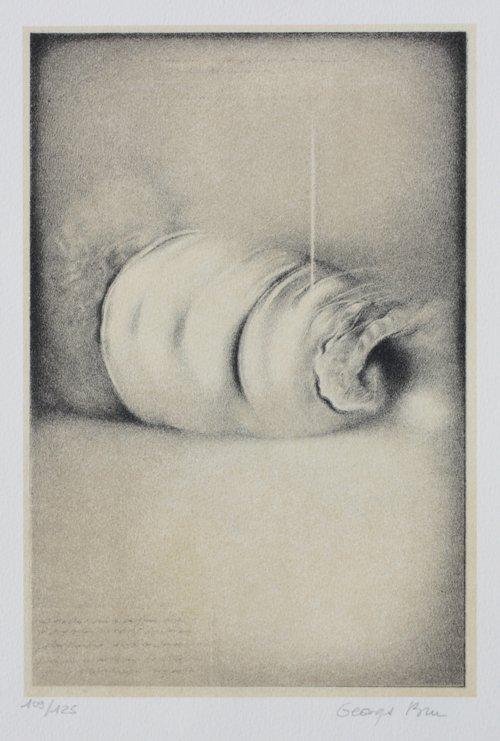 Georges BRU (1933)  Composition en noir et blanc Lithog