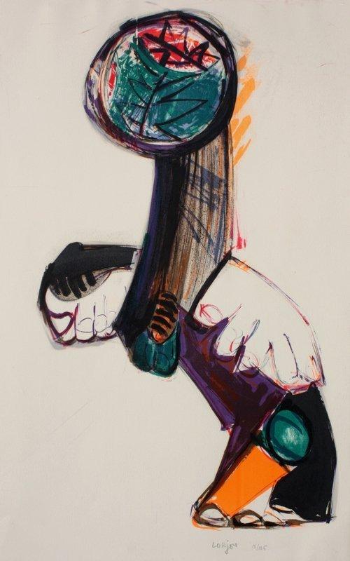 Bernard LORJOU (1908-1986)  Composition  Lithographie e
