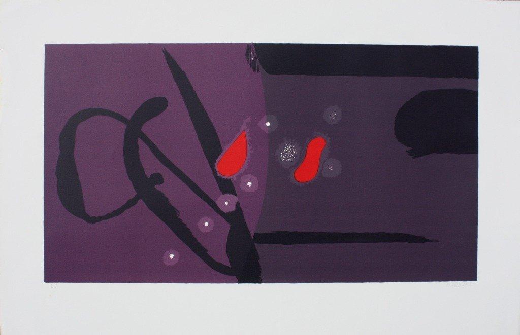 Jean PIAUBERT (1900-2002)  Composition abstraite Lithog