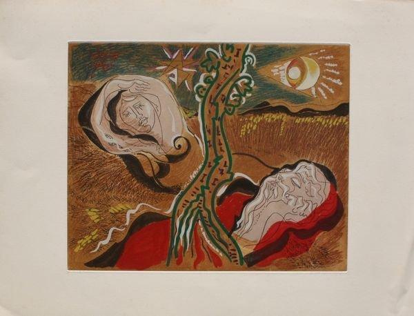 André MASSON (1896-1987) Les amants célèbres, 1979. Gra