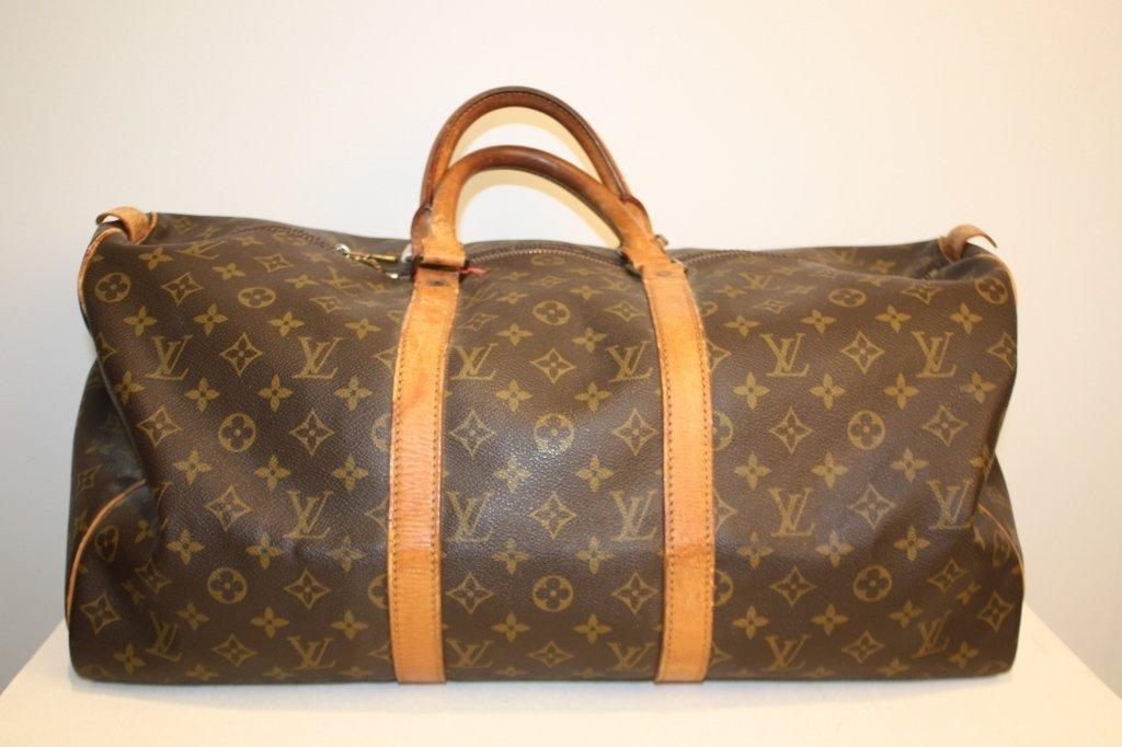 VUITTON - sac modèle keepal 50 cm, toile monogrammée ,