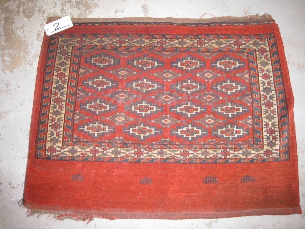 Ancien TCHOUVAL YOMOUD-BOUKHARA (Turkmen) A décor de gü
