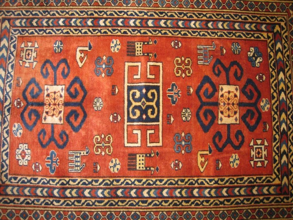 Original CHIRVAN (Vers 1970) A décor géométrique Bordur