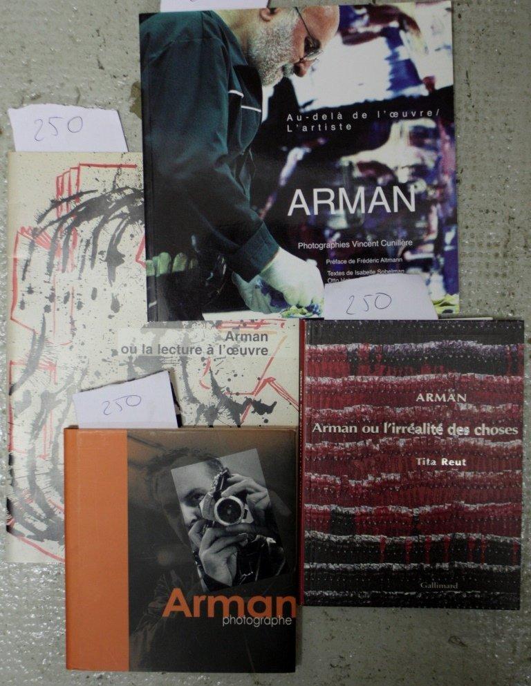 ARMAN Lot de divers ouvrages : Arman photographe, Arman