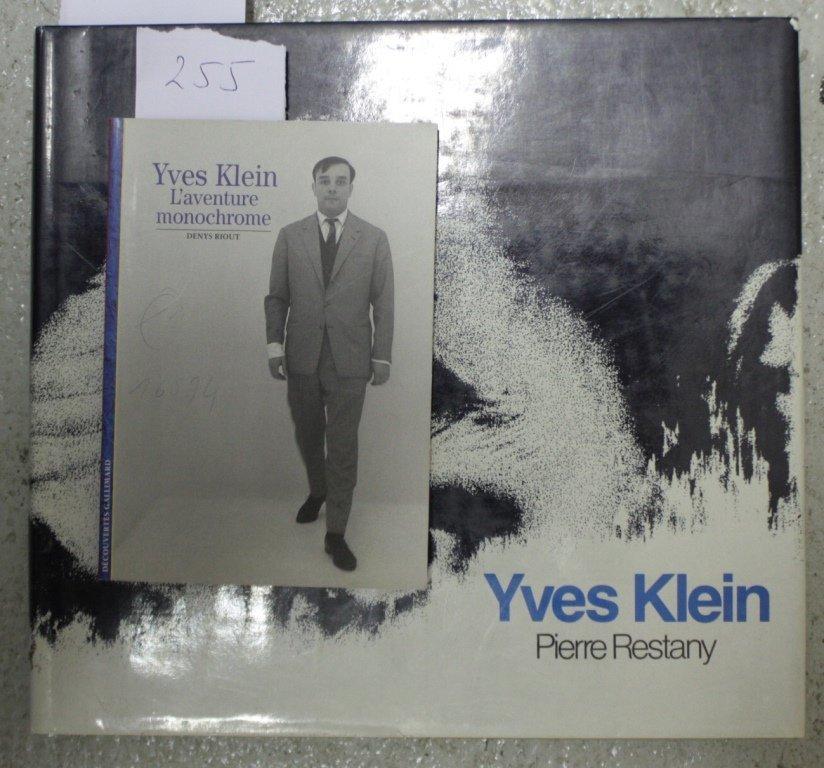 YVES KLIEN, Lot de deux ouvrages : - Yves Klein par