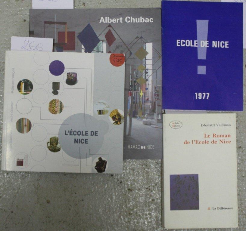 Ecole de Nice : - CHUBAC, catalogue d'exposition au