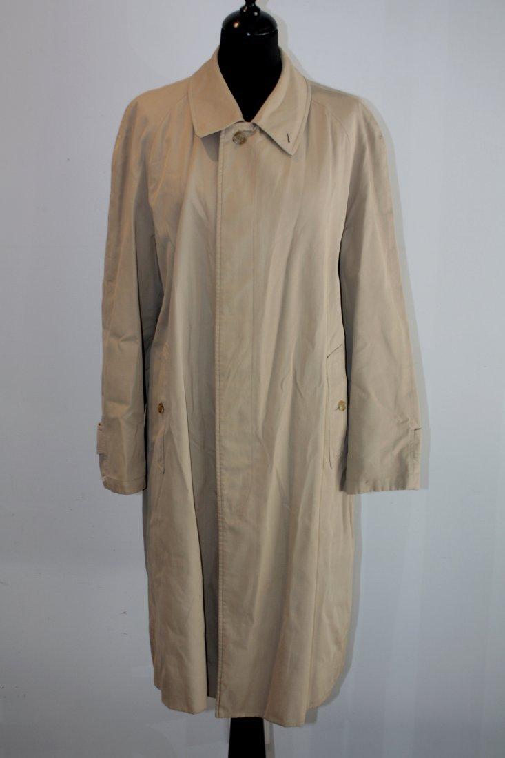 BURBERRY'S Trench coat pour homme en coton beige intéri