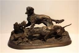 PierreJules MENE 18101879 Deux chiens de chasse et
