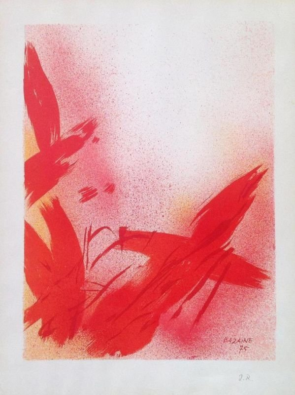 Jean René BAZAINE (1904 -2001 )  Composition abstraite