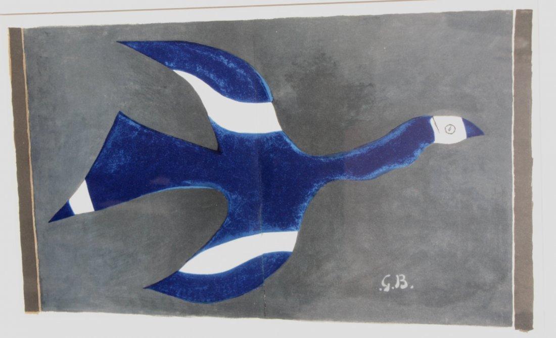 Georges BRAQUE (1882-1963), d'après Oiseau bleu Estampe