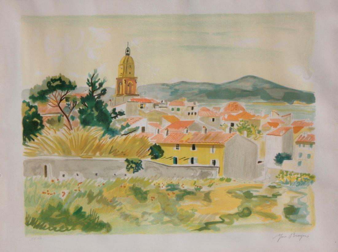 Yves BRAYER (1907-1990)  Vue de Saint Tropez lithograph