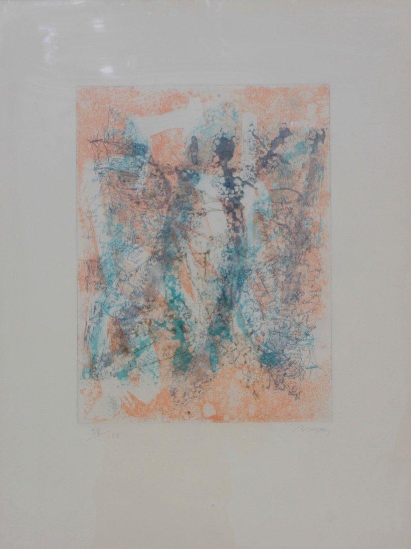 Camille BRYEN (1907-1977) Composition Lithographie en c