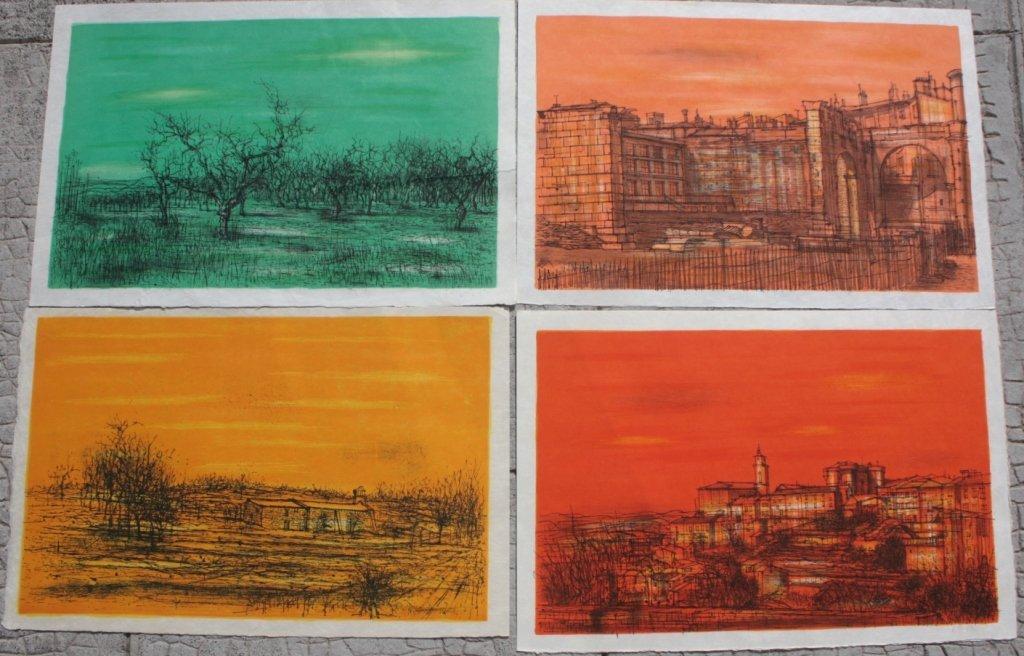 Jean CARZOU  Ensemble de 5 lithographies en cou