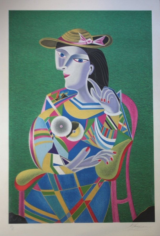 Mikhail CHEMIAKINE ( 1943 )  Hommage à Picasso  Lithogr