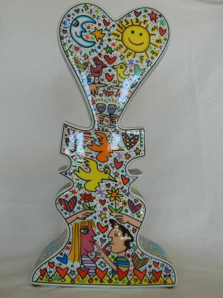 """James RIZZI (1950-2011) Love vase Edition Rosenthal, E"