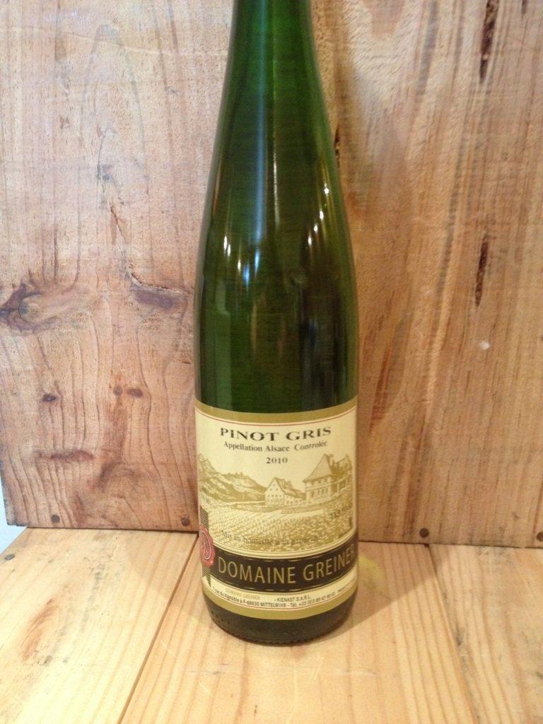 12 Bouteilles Alsace Pinot gris domaine Greiner à