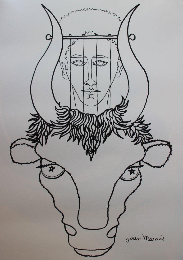 Jean Marais (1913-1998) Jean Cocteau et le taureau