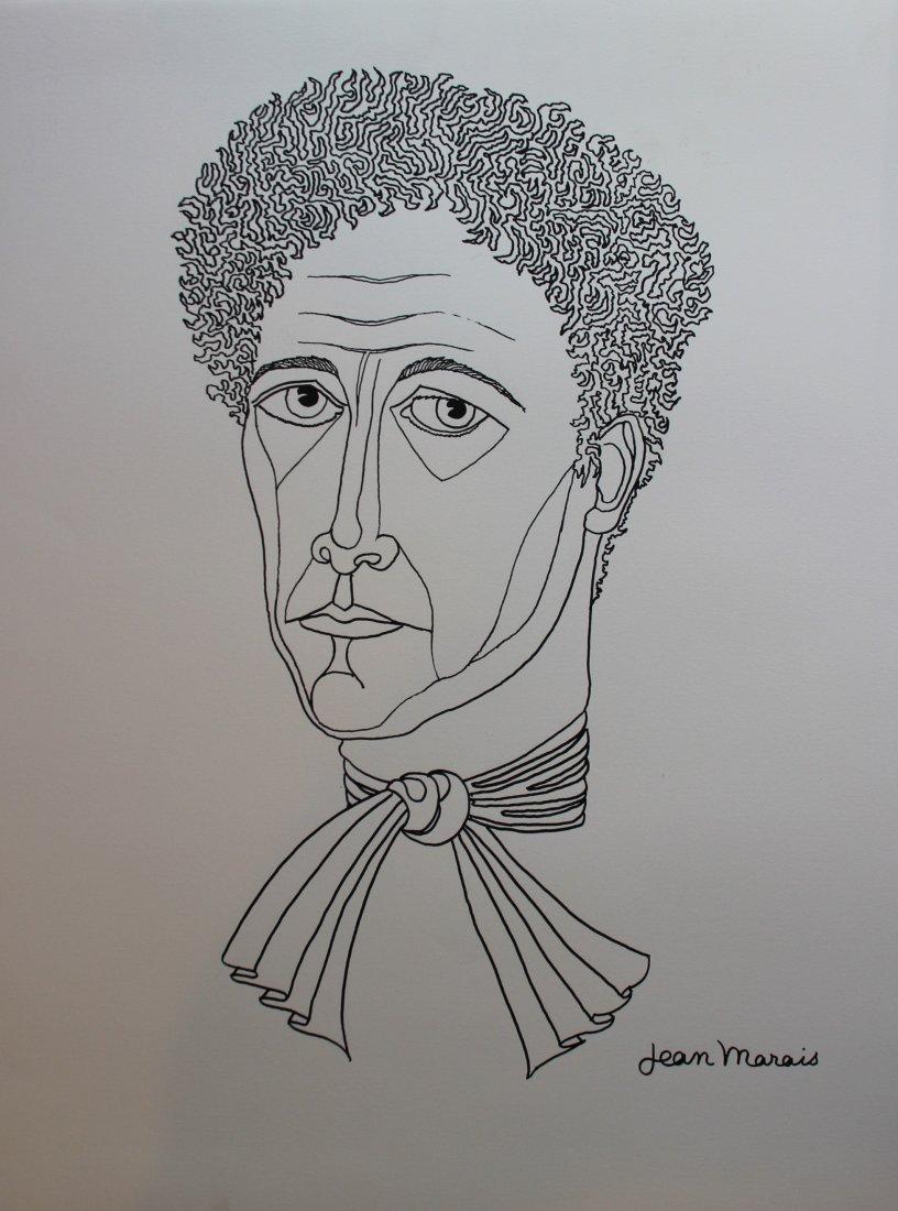 Jean Marais (1913-1998) Portait de Jean Cocteau