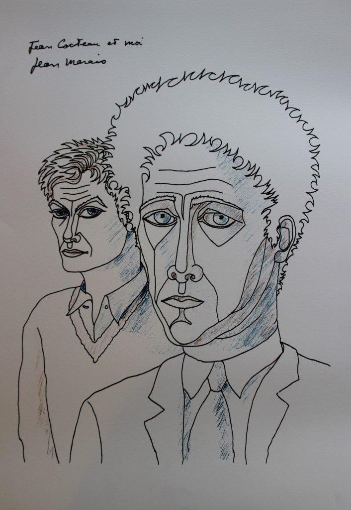 Jean Marais (1913-1998) Cocteau et Marais Lithographie