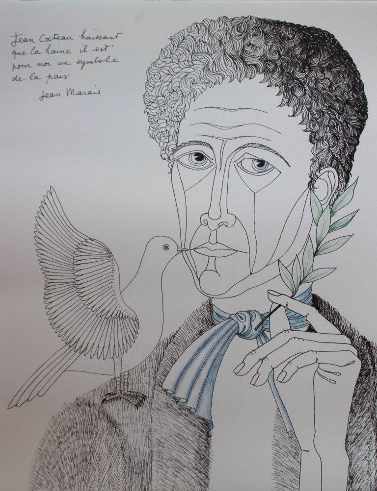 Jean Marais (1913-1998) Jean Cocteau et la colombe de