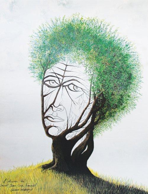 Jean Marais (1913-1998) Jean Cocteau en olivier