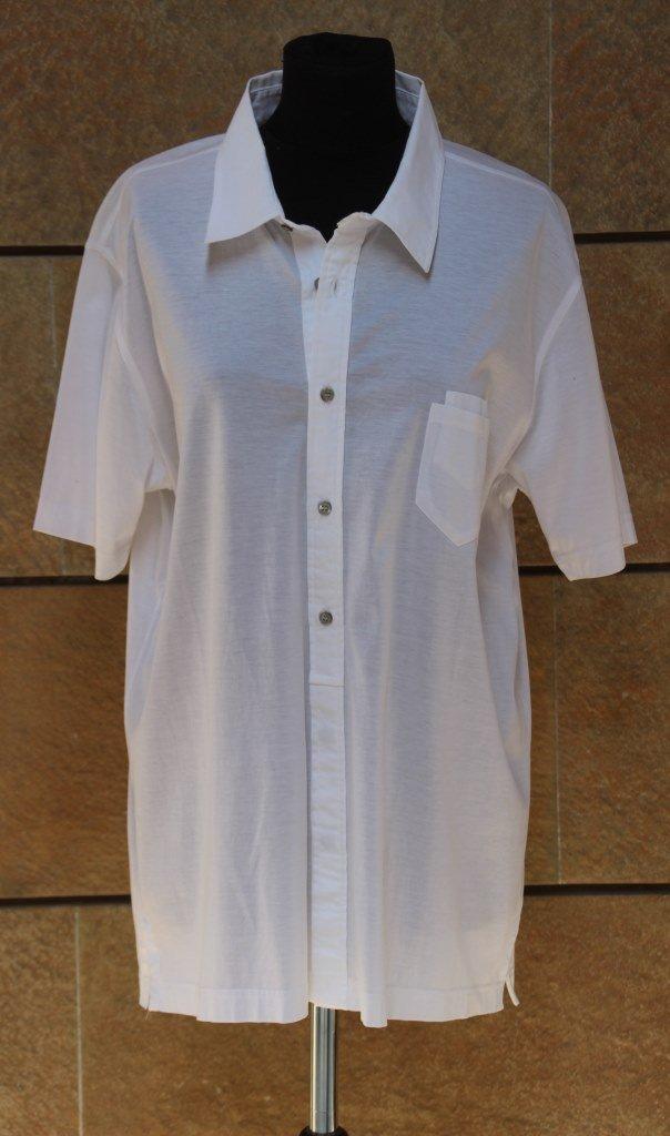 LAGERFELD Polo pour homme en coton blanc Carrure: 48 cm
