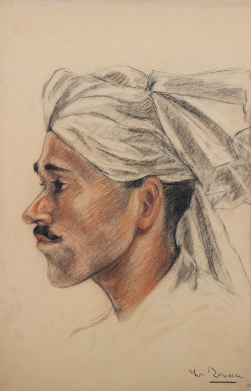 Yves REVELLI (1898-1971) Jeune homme arabe de profil