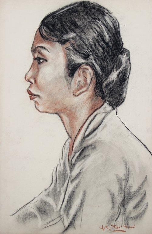 Yves REVELLI (1898-1971) Jeune asiatique de profil