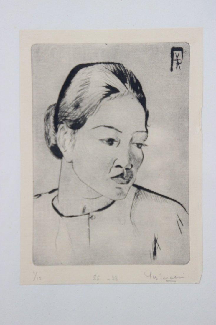 Yves REVELLI (1898-1971) Personnages Lot de cinq