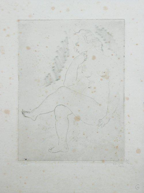 Léonard Tsuguharu FOUJITA (1886-1968) Nu féminin assis