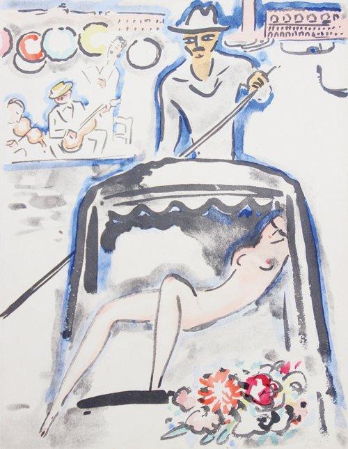 Kees VAN DONGEN (1877-1968) Venise. Seuil des eaux,
