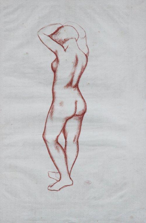 Aristide MAILLOL (1861-1944) Nu de femme, vue de