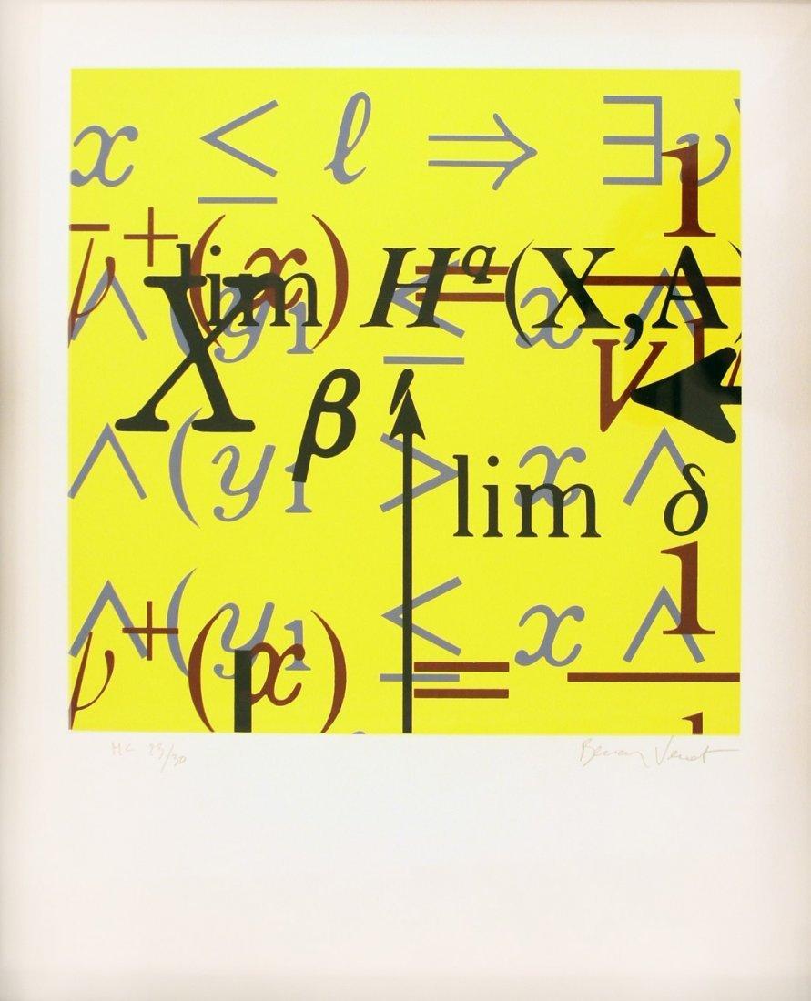Bernar VENET (1941) quation mathmatique  Srigraphie