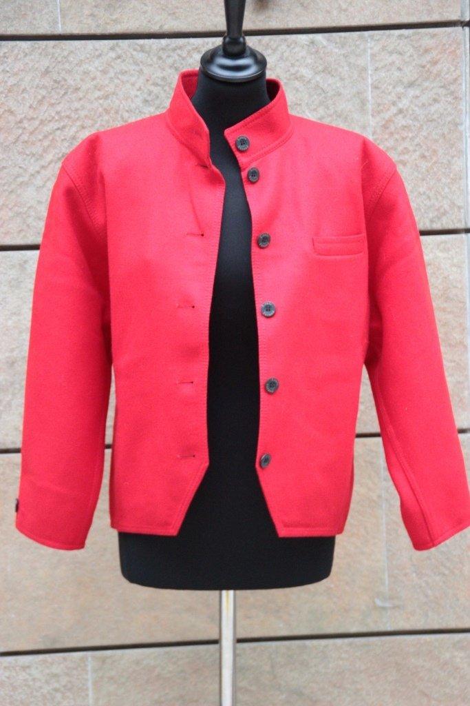 LOUIS FERAUD Veste en laine rouge , boutons