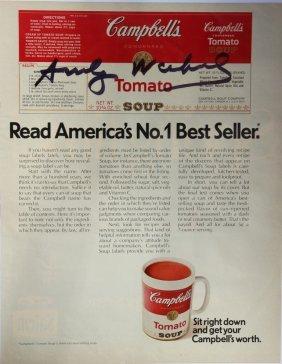 Andy Warhol (1928 - 1987) Page De Magazine - Pub