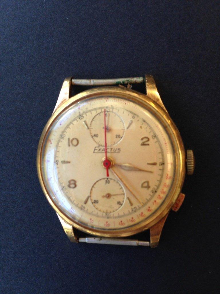 "Boitier de montre pour homme marque ""Exactus"" en or"