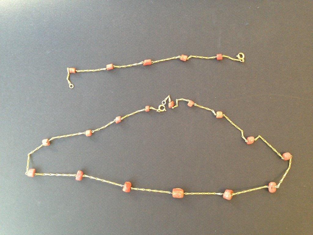 Lot composé d'un bracelet et d'un collier en or jaune