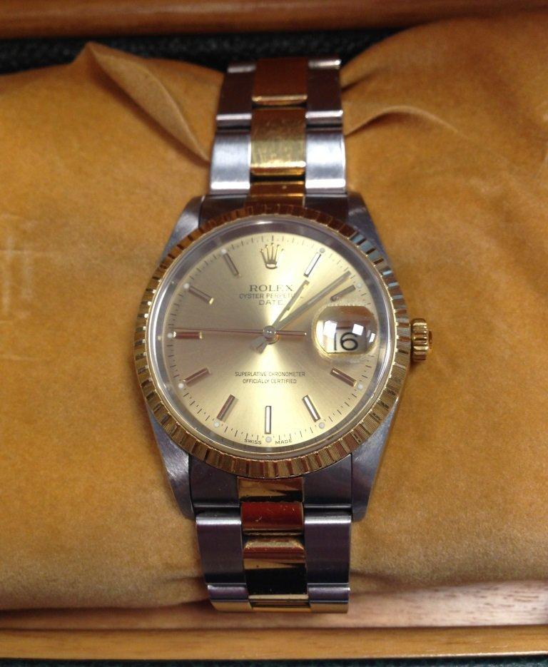 ROLEX Montre bracelet pour homme en or et acier modèle